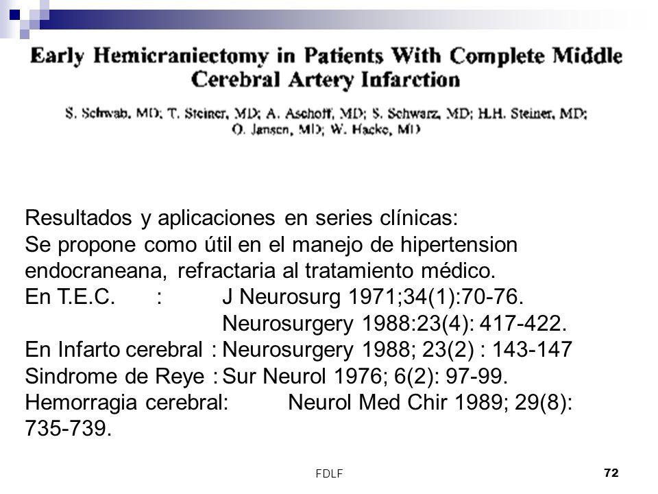 Resultados y aplicaciones en series clínicas: