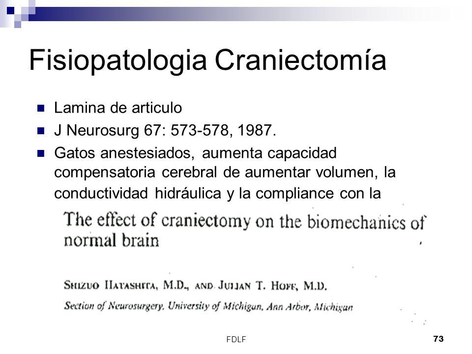 Fisiopatologia Craniectomía