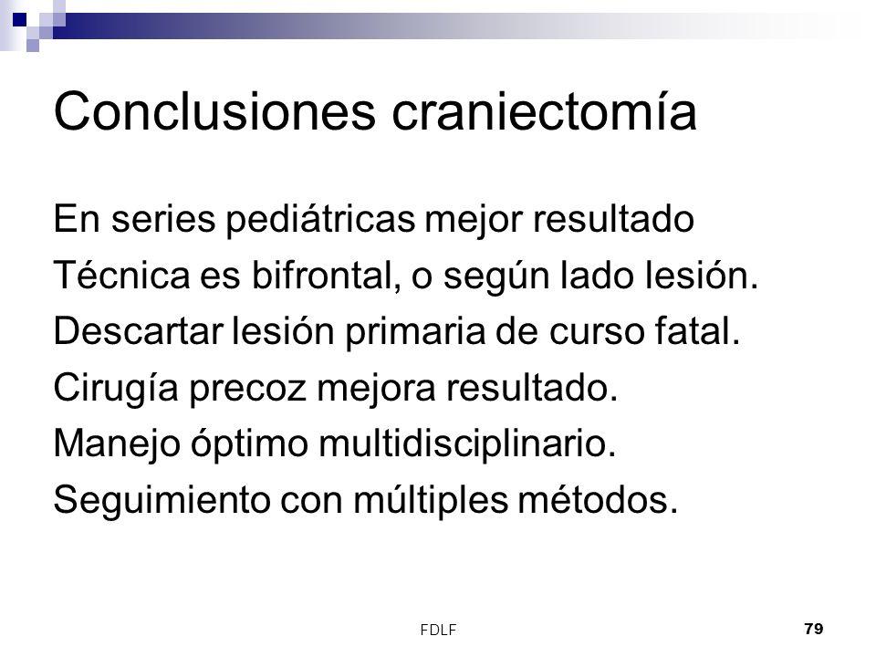 Conclusiones craniectomía