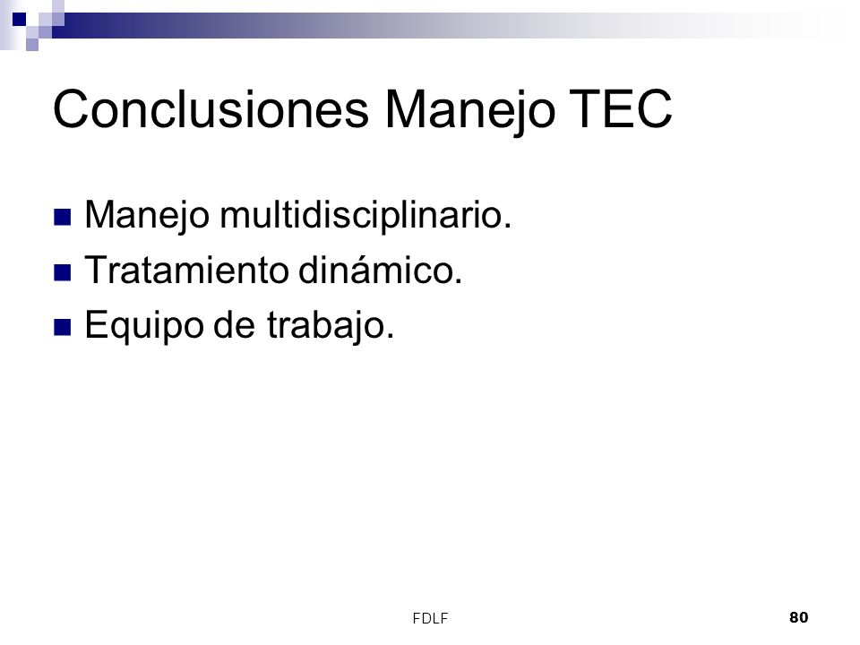 Conclusiones Manejo TEC