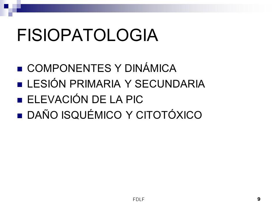 FISIOPATOLOGIA COMPONENTES Y DINÁMICA LESIÓN PRIMARIA Y SECUNDARIA