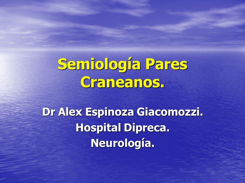 Semiología Pares Craneanos.