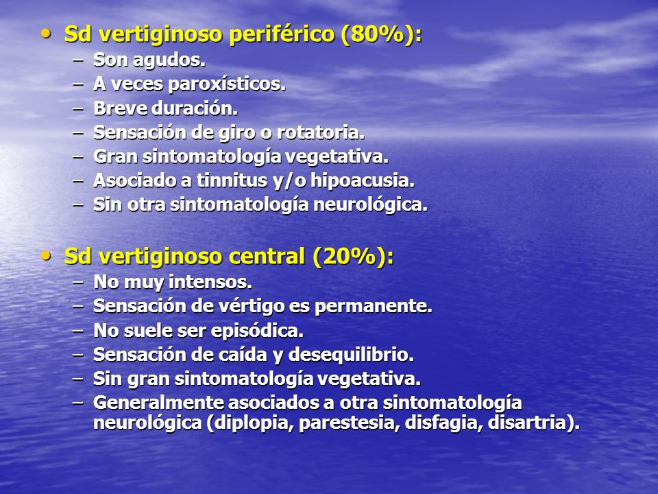 Sd vertiginoso periférico (80%):