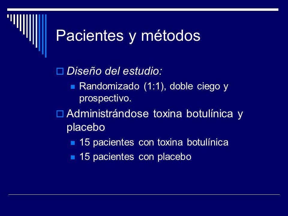 Pacientes y métodos Diseño del estudio:
