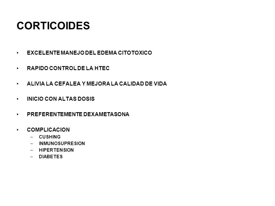 CORTICOIDES EXCELENTE MANEJO DEL EDEMA CITOTOXICO