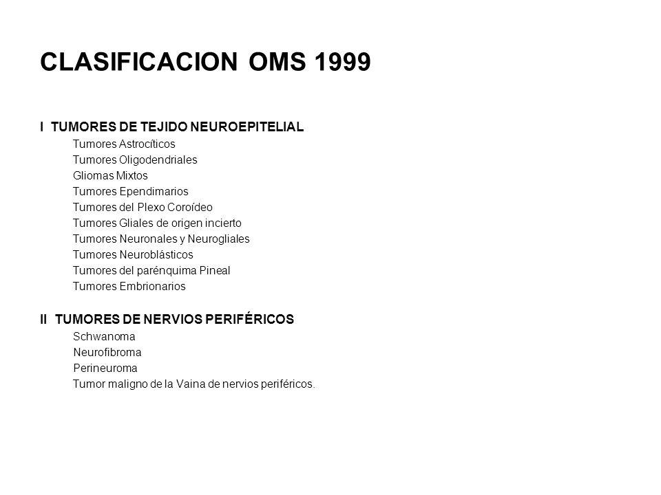 CLASIFICACION OMS 1999 I TUMORES DE TEJIDO NEUROEPITELIAL