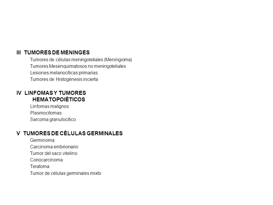 III TUMORES DE MENINGES