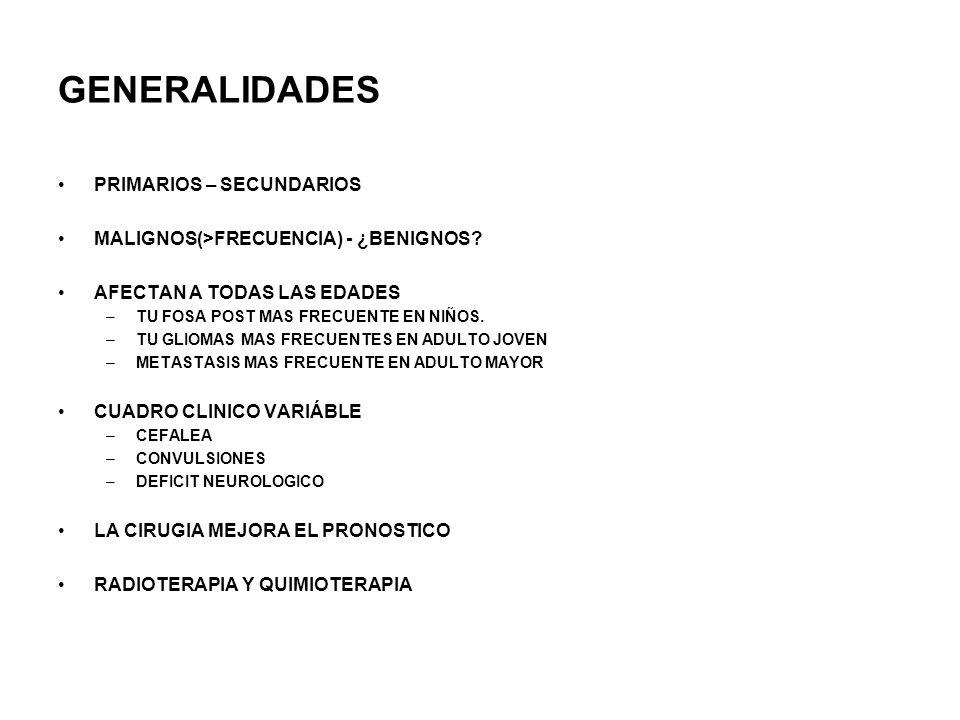 GENERALIDADES PRIMARIOS – SECUNDARIOS