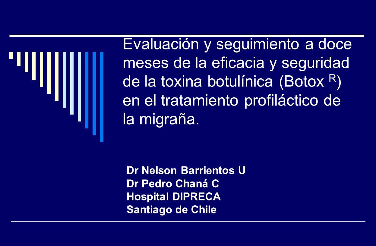 Evaluación y seguimiento a doce meses de la eficacia y seguridad de la toxina botulínica (Botox R) en el tratamiento profiláctico de la migraña.