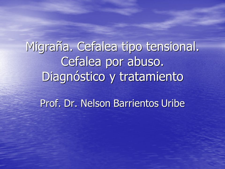 Prof. Dr. Nelson Barrientos Uribe