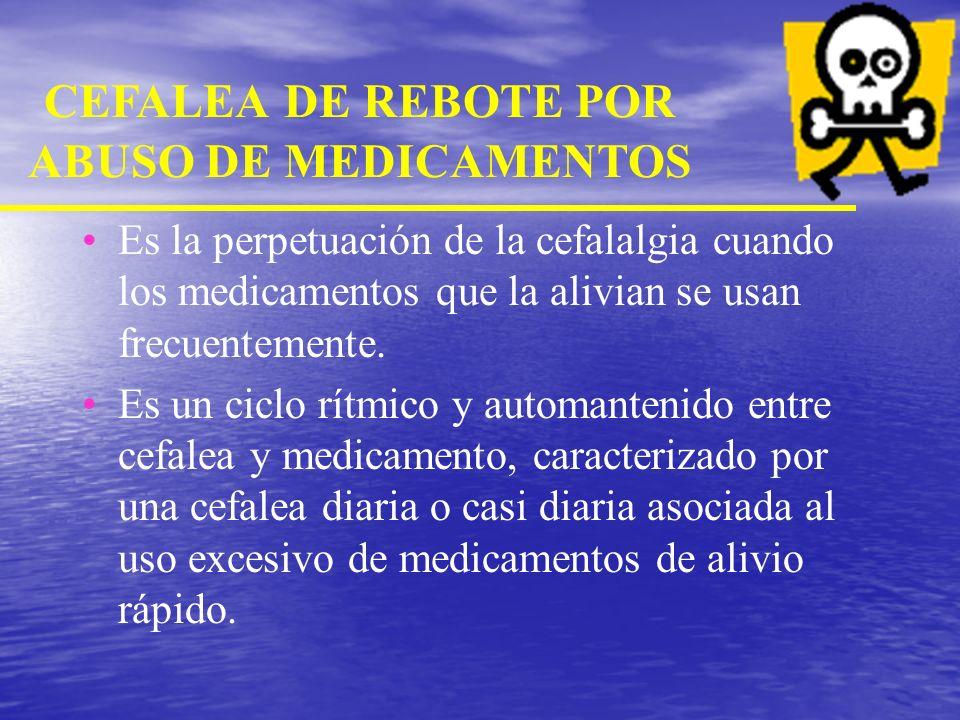 CEFALEA DE REBOTE POR ABUSO DE MEDICAMENTOS