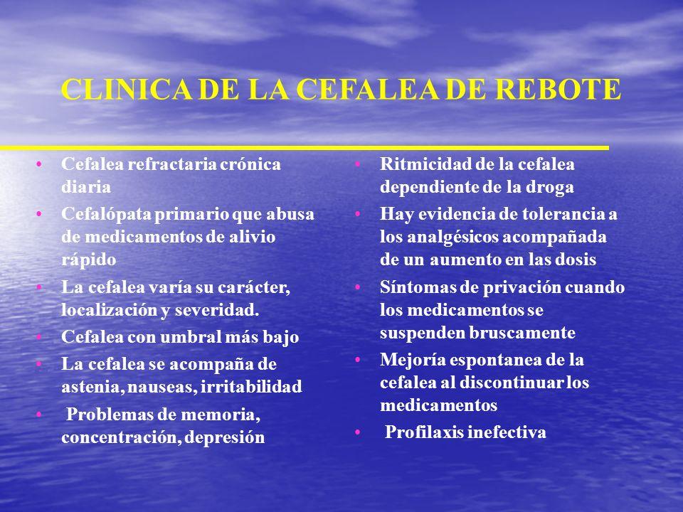 CLINICA DE LA CEFALEA DE REBOTE
