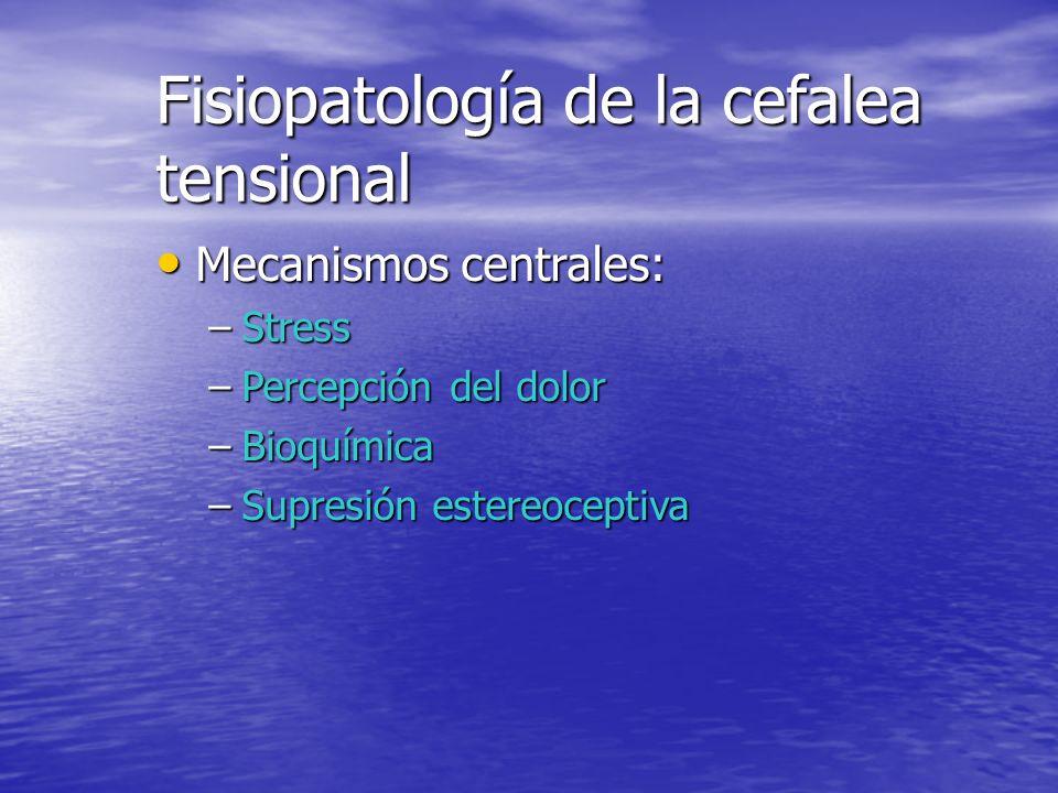 Fisiopatología de la cefalea tensional