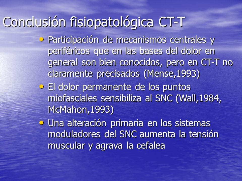 Conclusión fisiopatológica CT-T