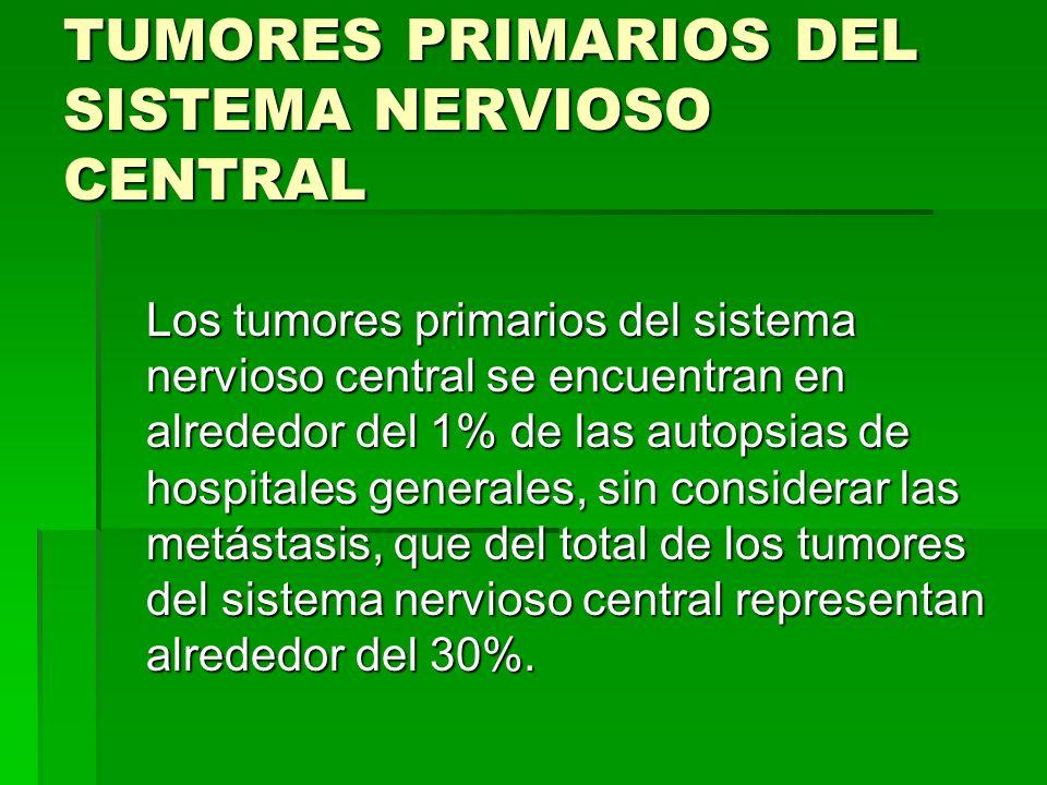 TUMORES PRIMARIOS DEL SISTEMA NERVIOSO CENTRAL