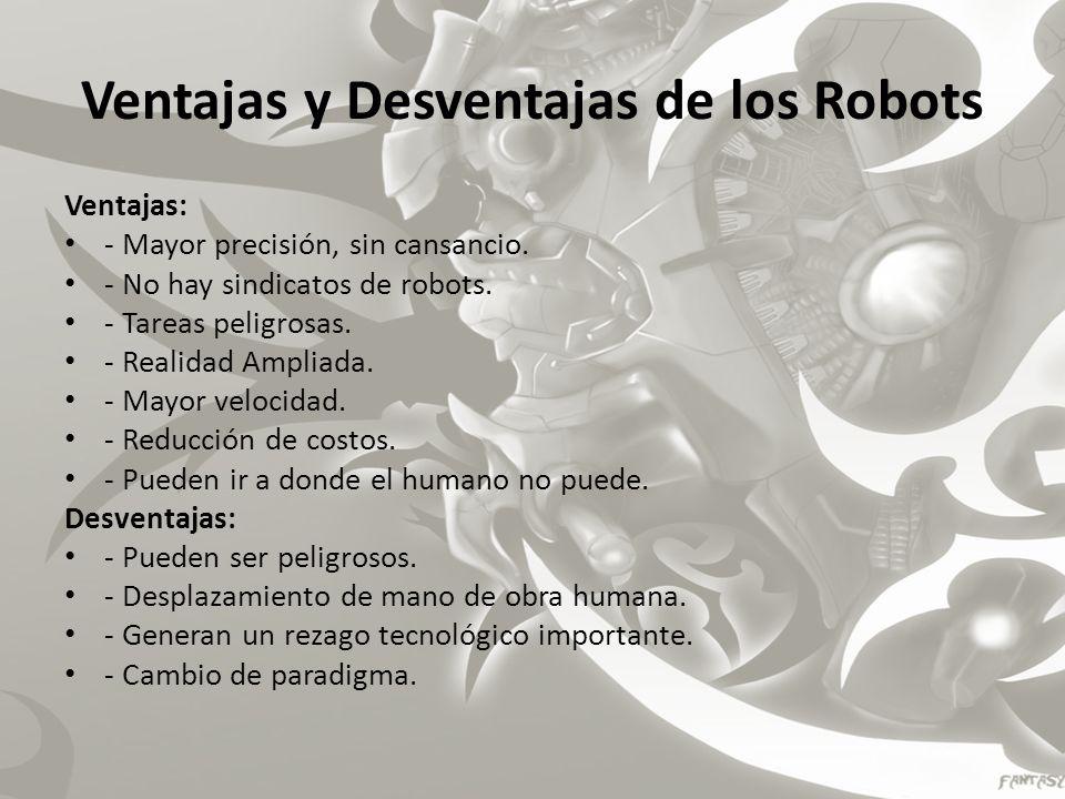 Ventajas y Desventajas de los Robots
