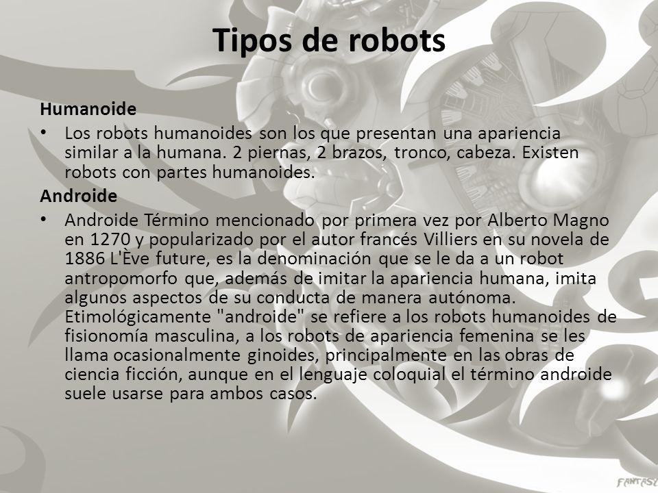 Tipos de robots Humanoide