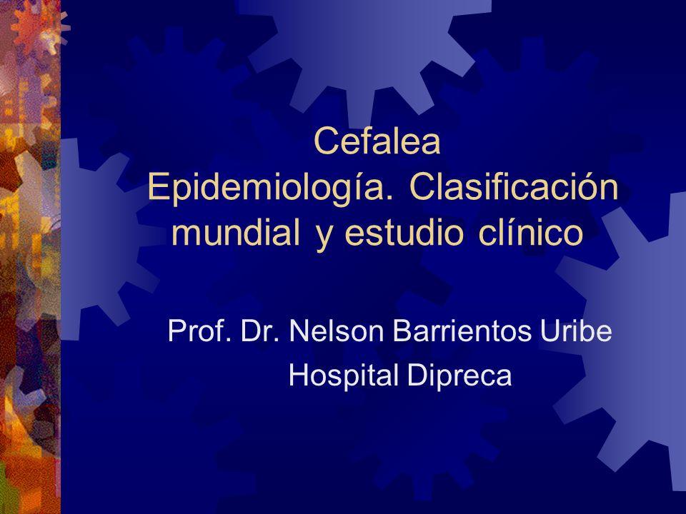 Cefalea Epidemiología. Clasificación mundial y estudio clínico