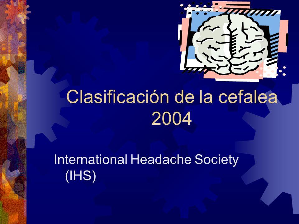 Clasificación de la cefalea 2004