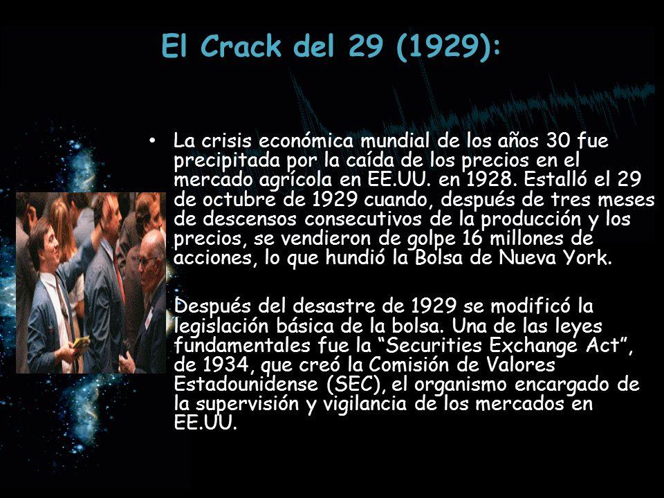 El Crack del 29 (1929):