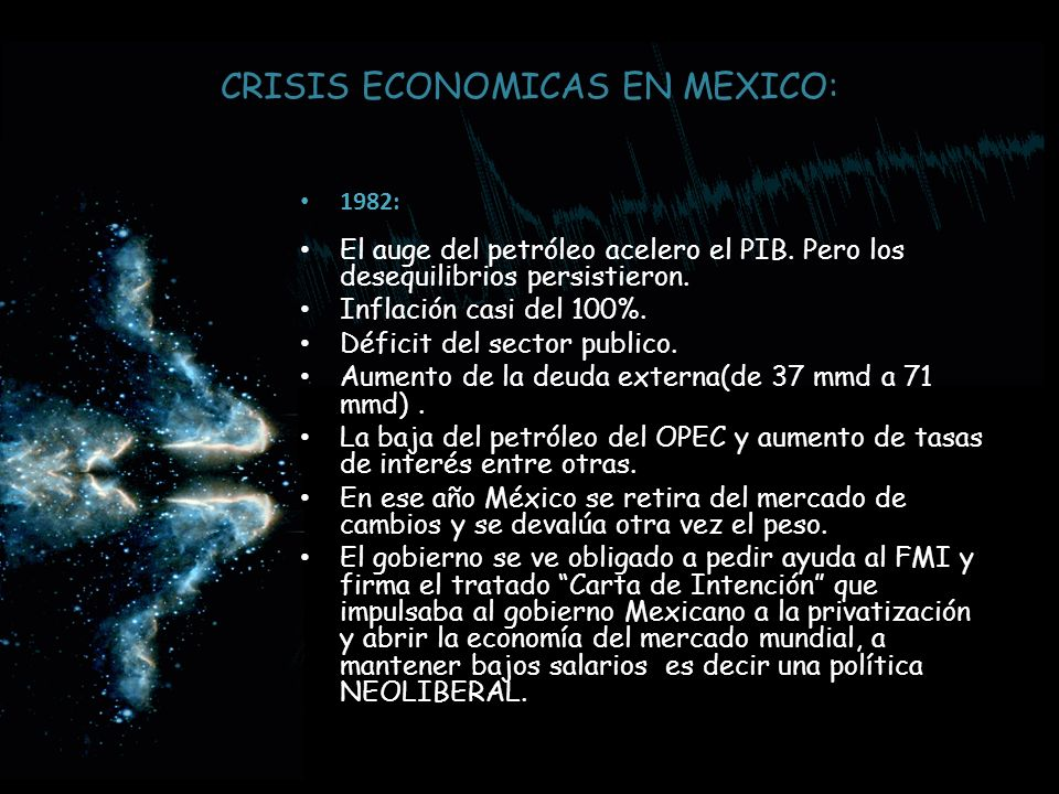 CRISIS ECONOMICAS EN MEXICO:
