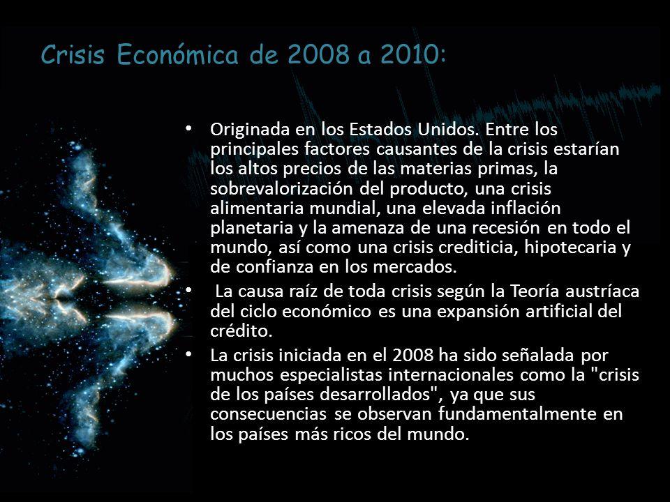 Crisis Económica de 2008 a 2010: