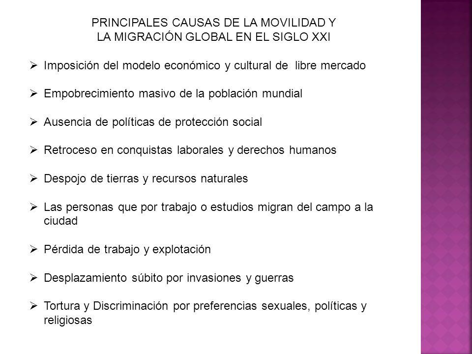 PRINCIPALES CAUSAS DE LA MOVILIDAD Y