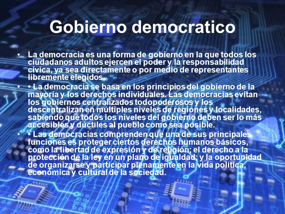 Gobierno democratico