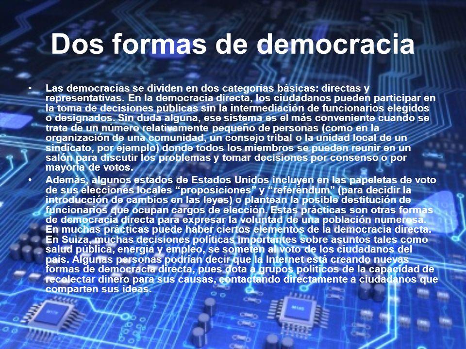 Dos formas de democracia