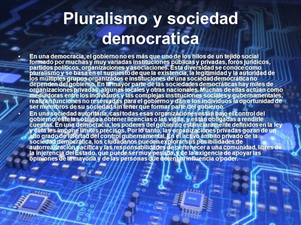 Pluralismo y sociedad democratica
