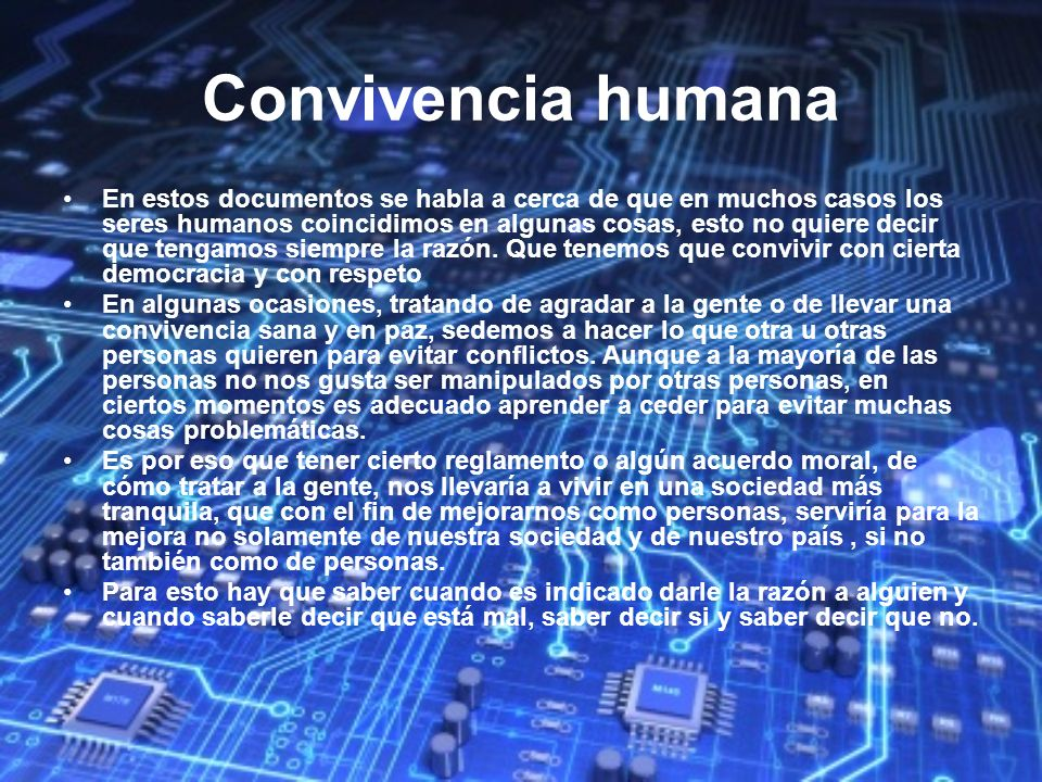 Convivencia humana