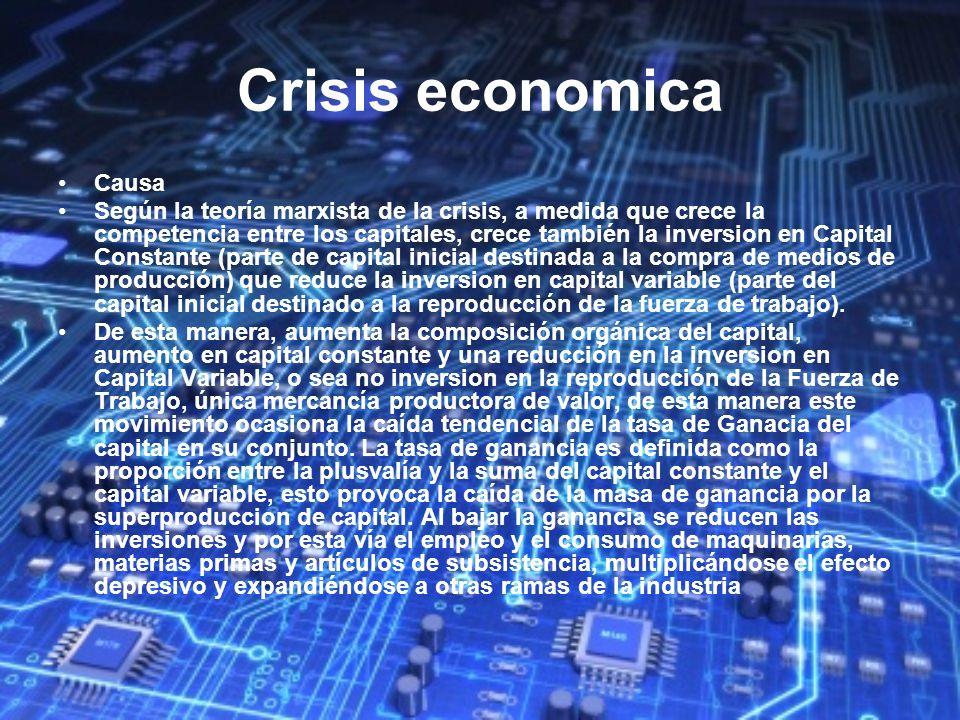 Crisis economica Causa