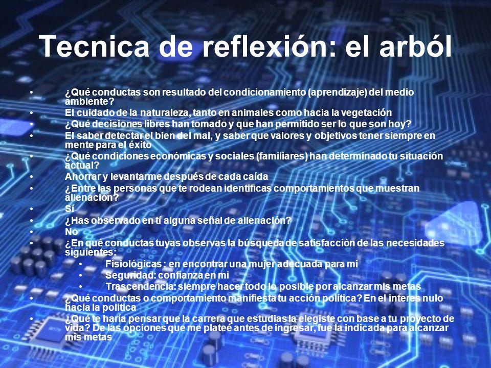 Tecnica de reflexión: el arból