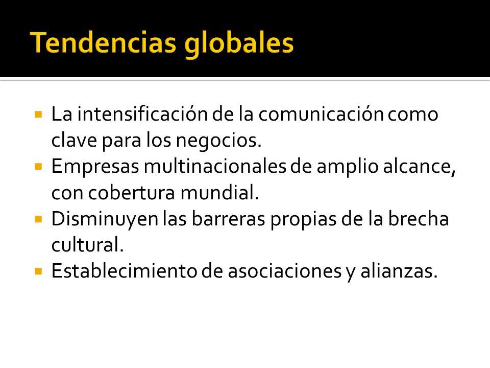 Tendencias globales La intensificación de la comunicación como clave para los negocios.