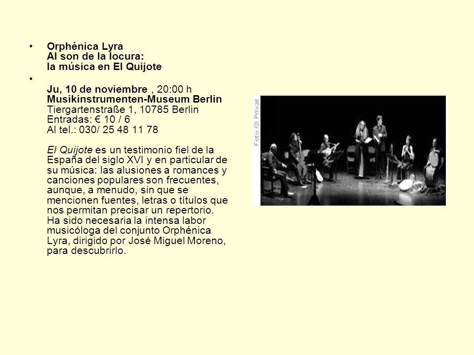 Orphénica Lyra Al son de la locura: la música en El Quijote