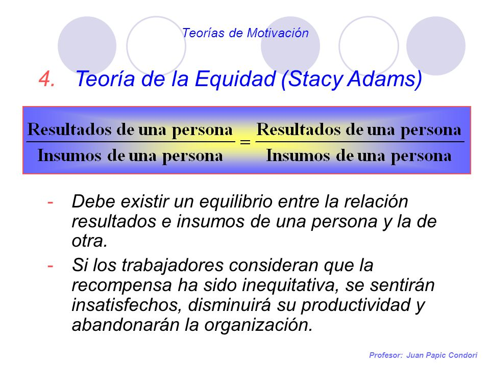 Teoría de la Equidad (Stacy Adams)