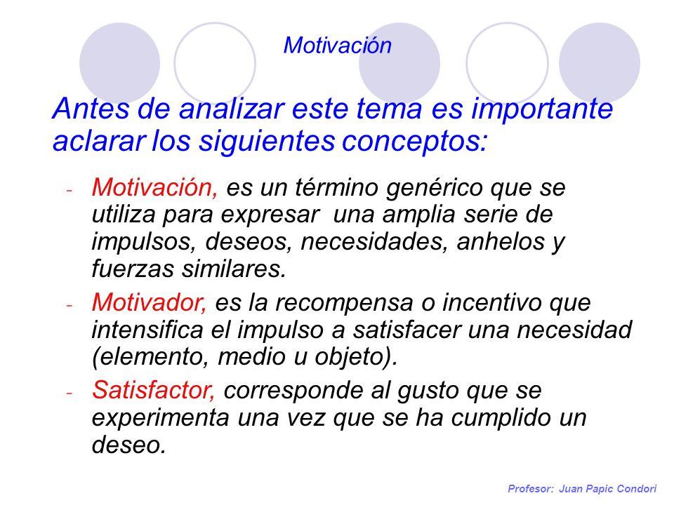 Motivación Antes de analizar este tema es importante aclarar los siguientes conceptos: