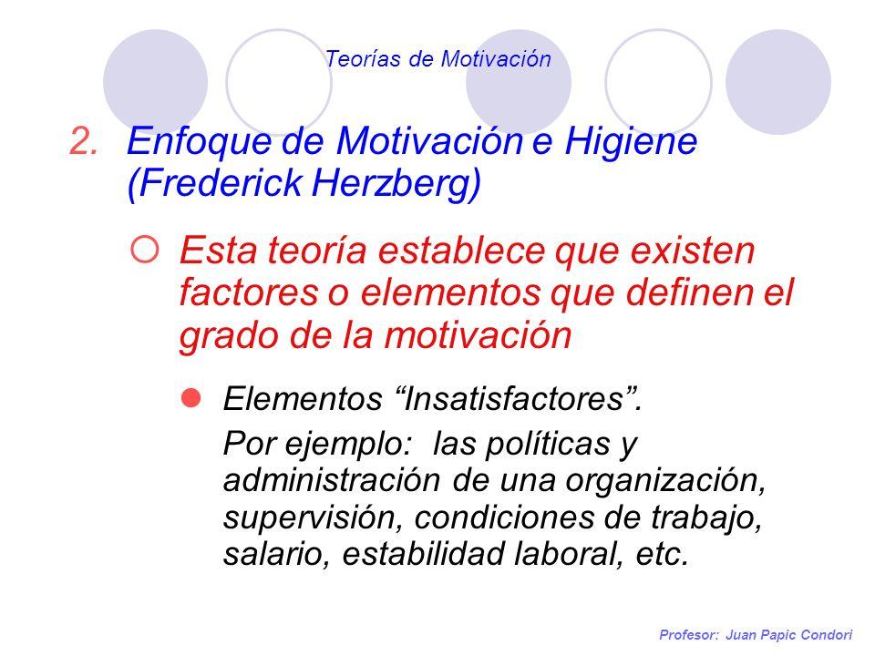 Enfoque de Motivación e Higiene (Frederick Herzberg)