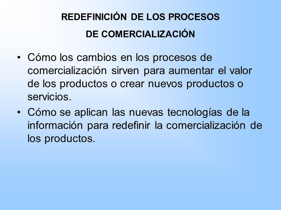 REDEFINICIÓN DE LOS PROCESOS DE COMERCIALIZACIÓN