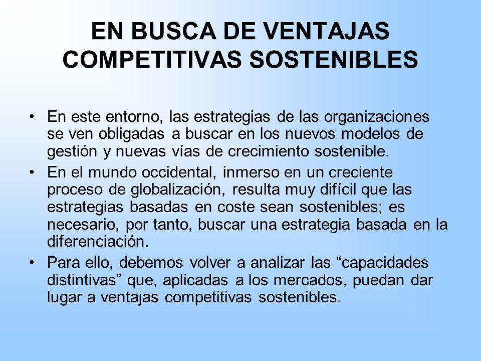 EN BUSCA DE VENTAJAS COMPETITIVAS SOSTENIBLES