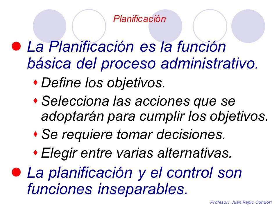 La Planificación es la función básica del proceso administrativo.