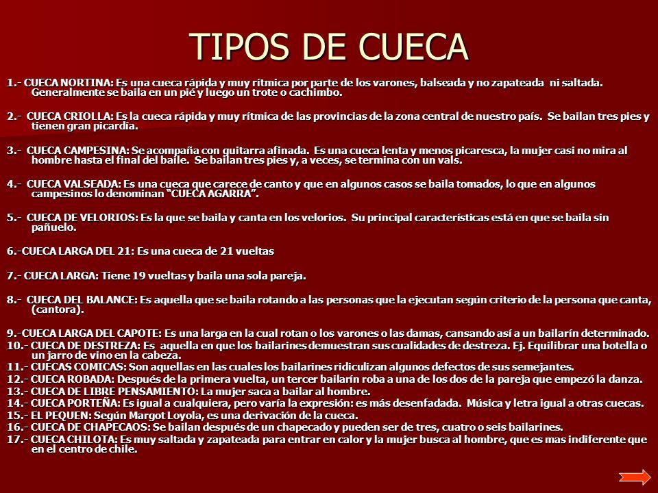 TIPOS DE CUECA