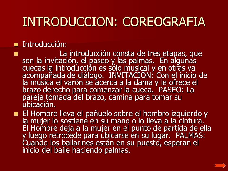 INTRODUCCION: COREOGRAFIA