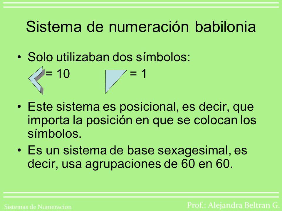Sistema de numeración babilonia