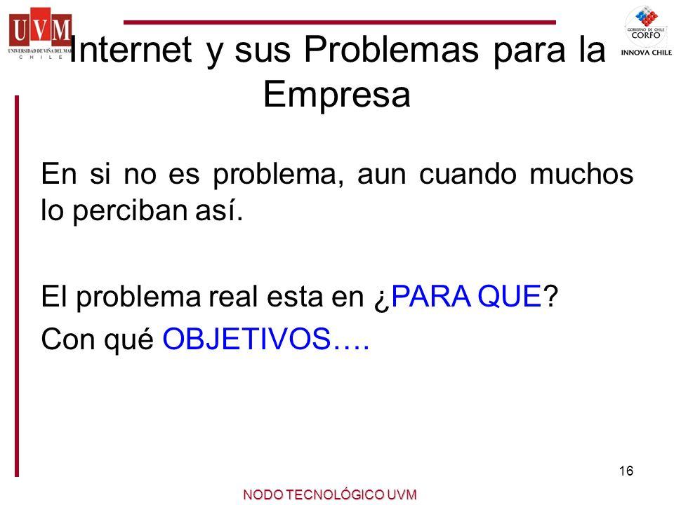 Internet y sus Problemas para la Empresa