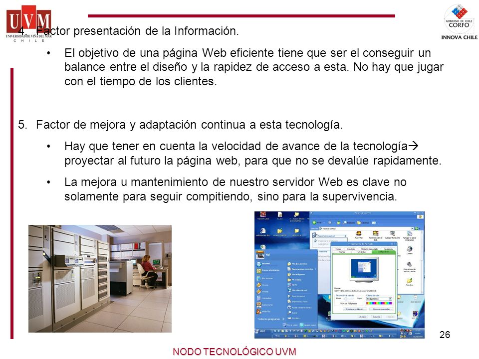 Factor presentación de la Información.