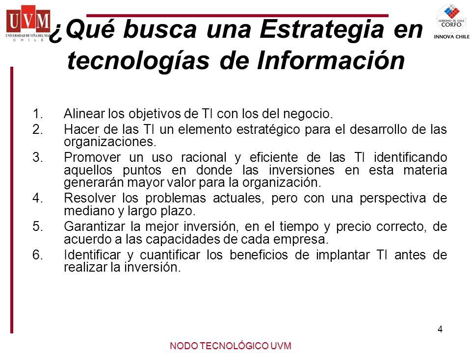¿Qué busca una Estrategia en tecnologías de Información