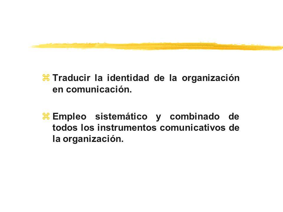 Traducir la identidad de la organización en comunicación.