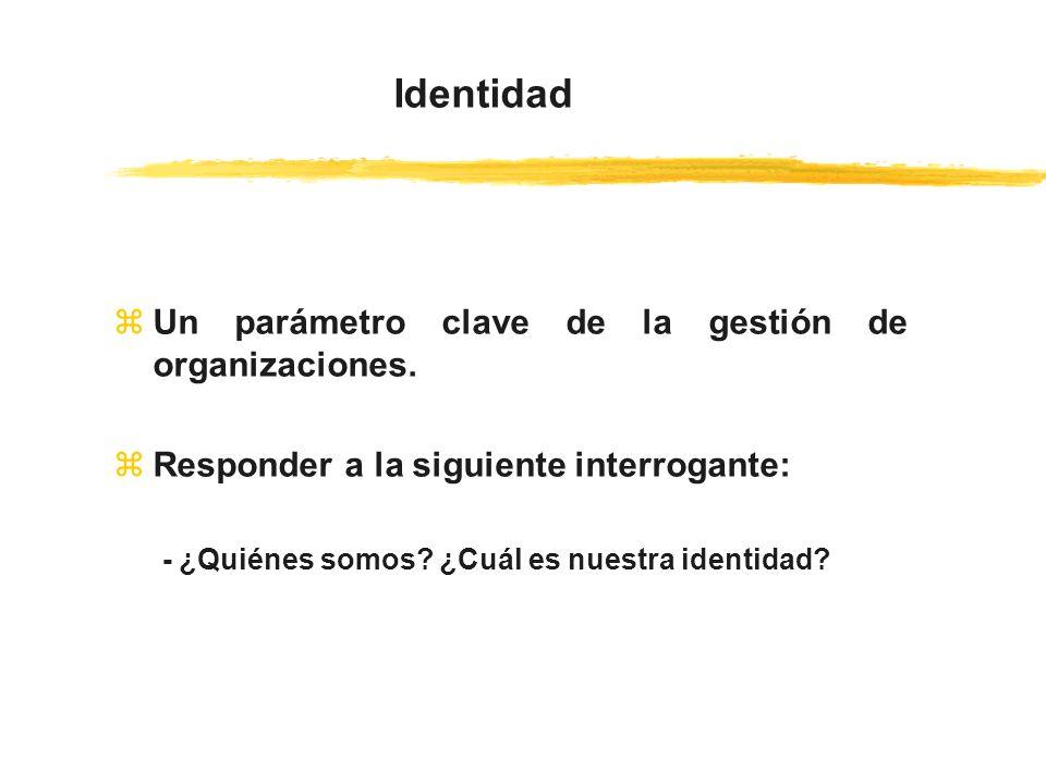 Identidad Un parámetro clave de la gestión de organizaciones.
