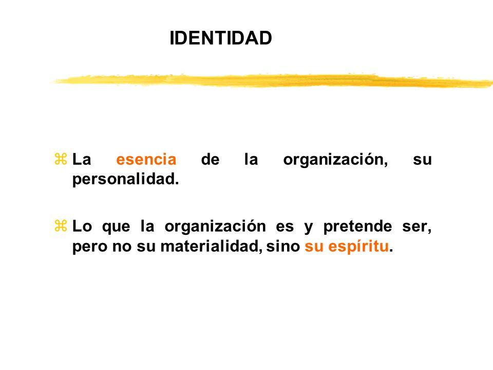 IDENTIDAD La esencia de la organización, su personalidad.